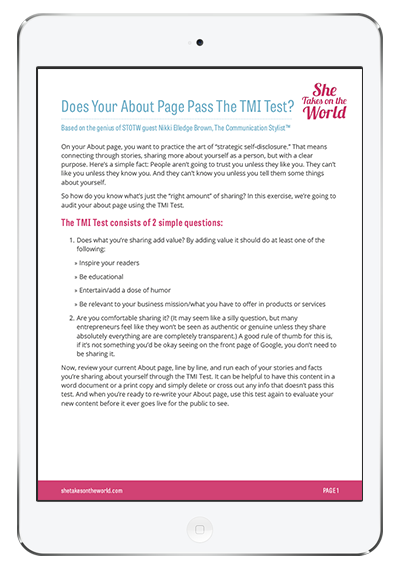 Does Your About Page Pass The TMI Test